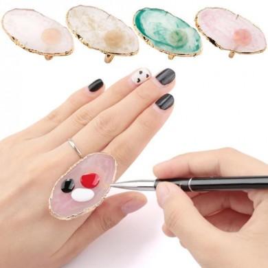 Anel para Nail Art - Pedra Rosa