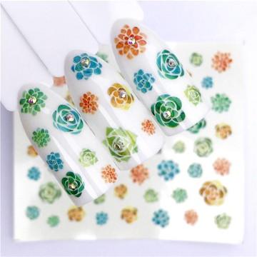 Decalque Flores Verdes