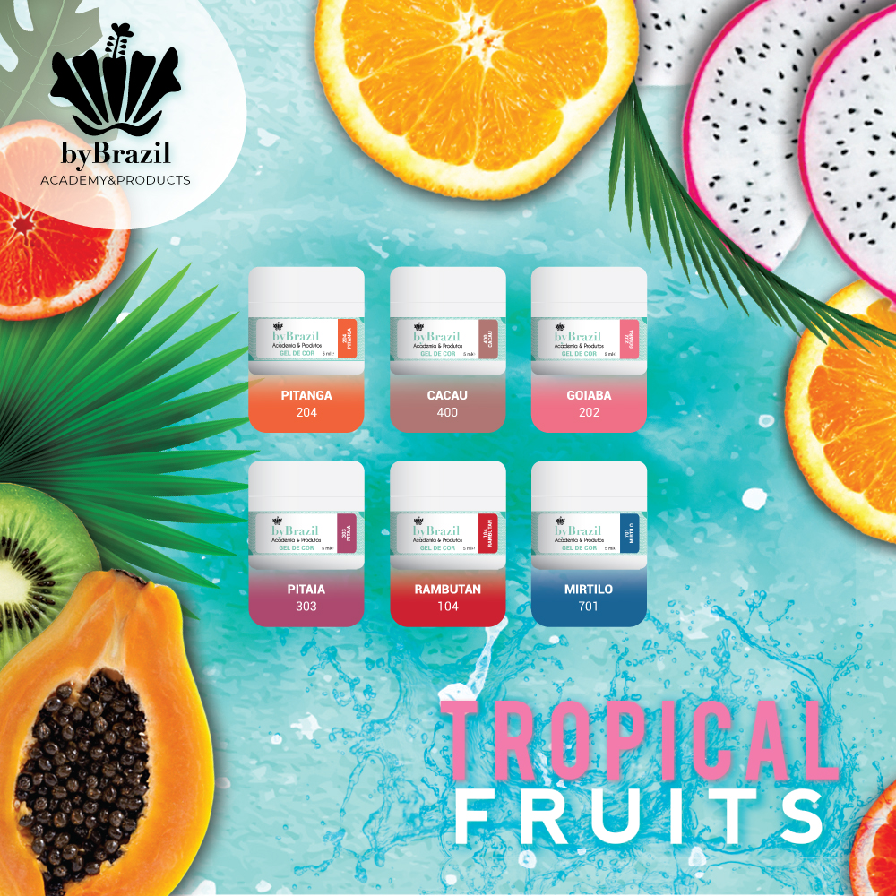 Kit Gel de Cor Tropical Fruits
